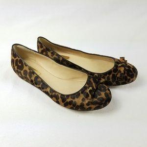 Louise et Cie Leopard Print  Round Toe Flat